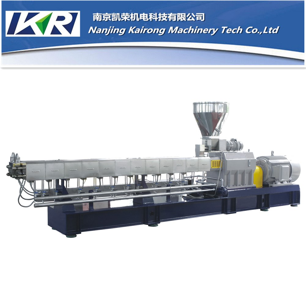 Double screw extruder /parallel counter rotating twin screw extruder for PVC powder