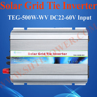 Grid solar inverter 500W, on grid tie PV converter 500watt, 24V 48V solar panel converter