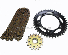 motorcycle kit transmission;motor bicycle sprockets and chains kit