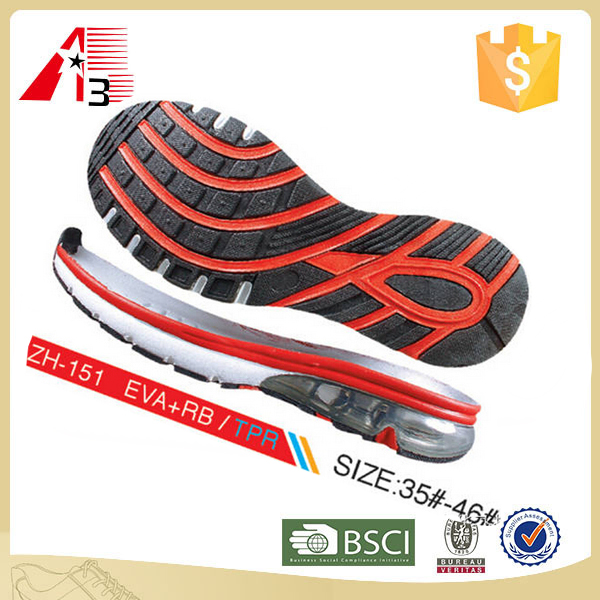 best quality air cushion durable tennis shoe sole