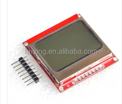 LPH7366-1 nokia 5110 LCD (blue /red screen ) with board module