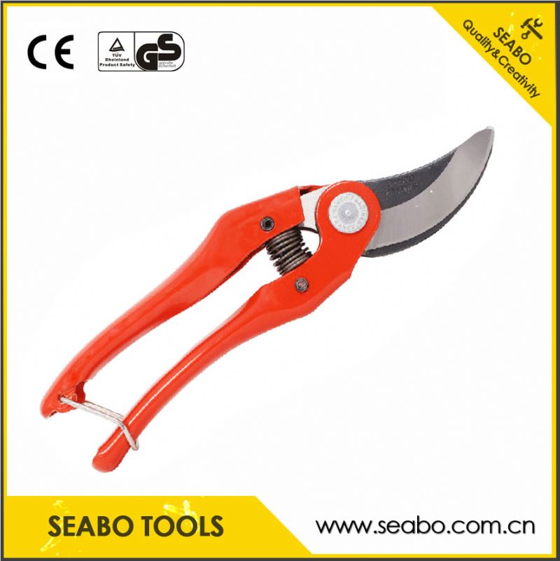 Promotion gift low moq bypass pruning shear forged pruning shear pruning garden shear with great price