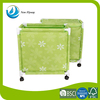 Wholesale houseware storage basket green dirty laundry basket with large capacity