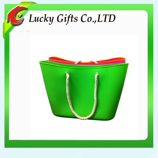 High Quality Best Seller Women Bag Big Colorful Silicone Beach Bag