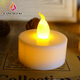 Wholesale Mini Plastic Decorative Flickering Flameless Battery Operated LED Tea Light Tealight Candle for weddings