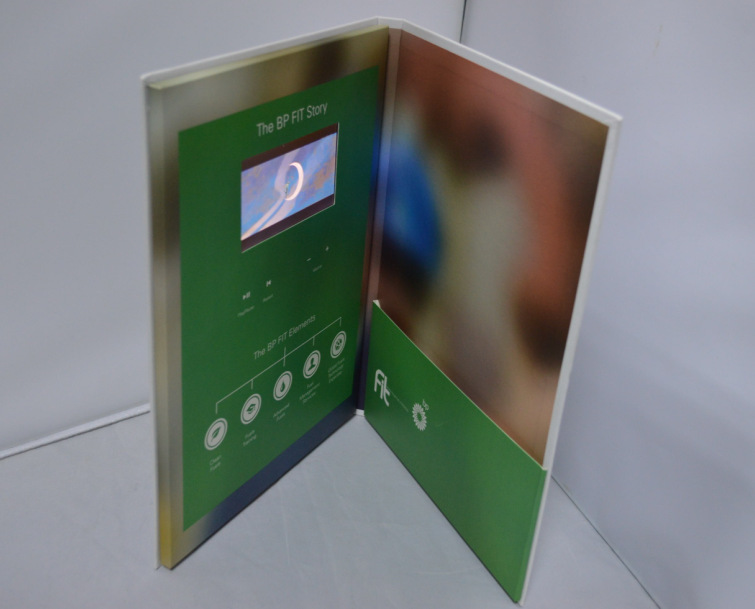 New  7 inch HD, 10 inch HD lcd greeting card paper video brochures digital photo frame for business gift invitation
