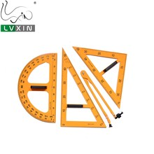 5 Pcs Divider Geometry Ruler Triangle Protractor Combination Ruler Set With Magnetic