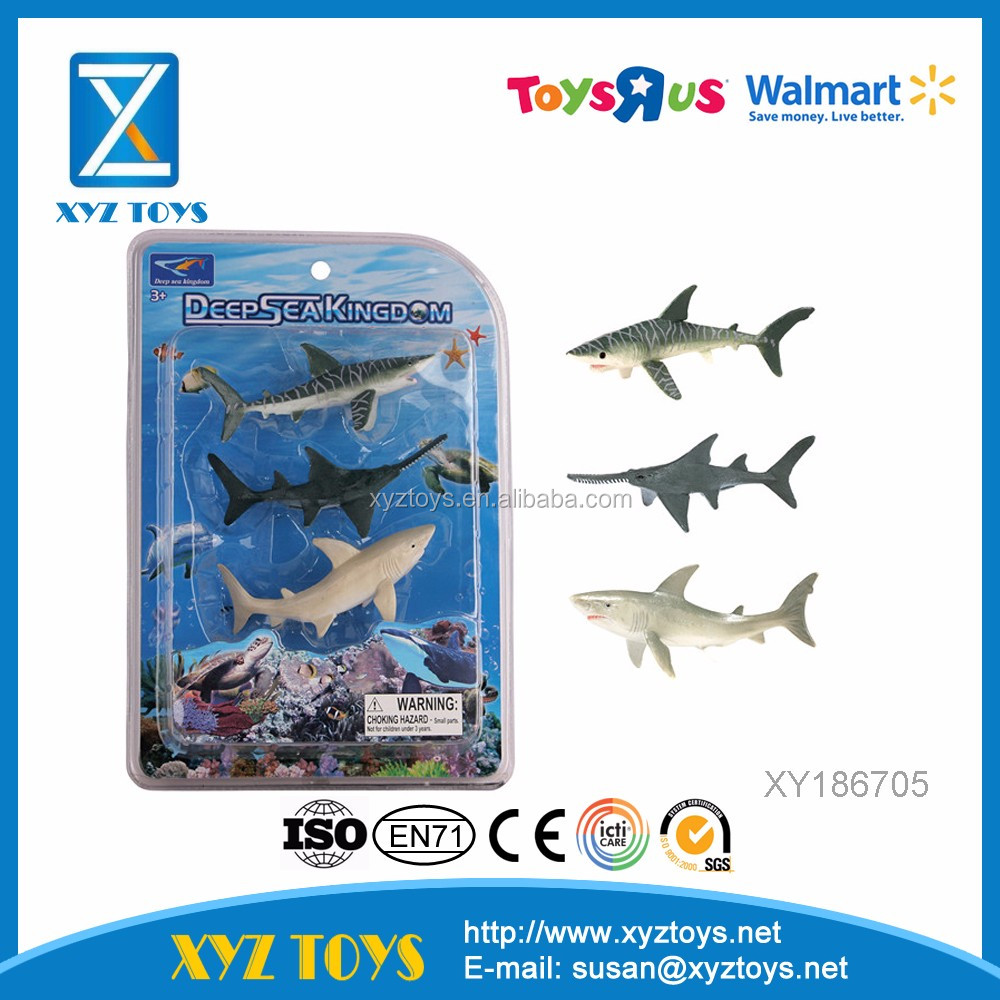 hot sale 3 PCS educational plastic mini model marine animal toys