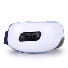 ce best Electric 180 folded Air pressure Eye massager with mp3 functions Wireless vibration heating Eye care glasses