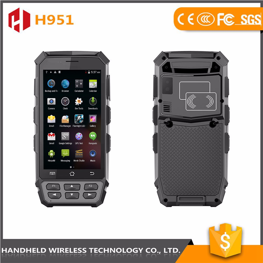 Volume supply wireless 5inch hanaheld rugged ip65 android 4.4.2 2d qr code scanner pda