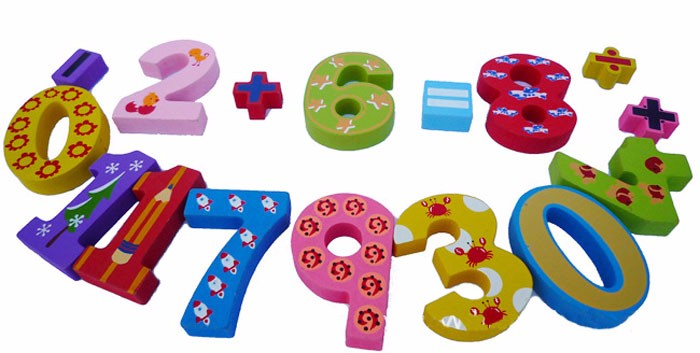 Wooden educational math learning toys for kids