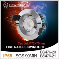 New desigh 3'' Dimmable Fire Rated LED Downlight 10W Waterproof IP65 COB LED Fire Rated Downlight Tridonic Drivers compatible