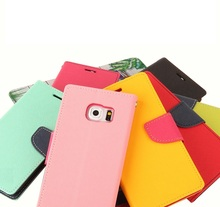 all models available Ultra slim wallet pu leather case flip cover fashion colorful flip case