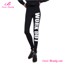 OEM design your own fashion words <strong>sport</strong> womens printed pants