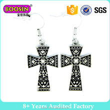 latest designs earring jewellery religious cross earring for men# 22554
