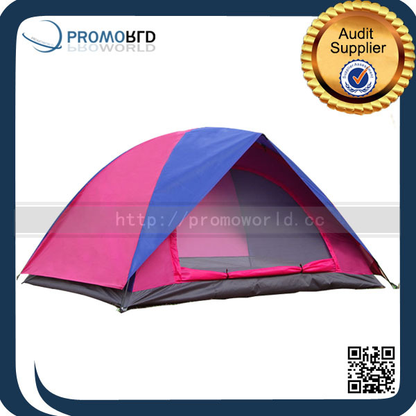 2015 Double Layer Outdoor Travel Purple 1-2 Person Hiking Tent Lightweight