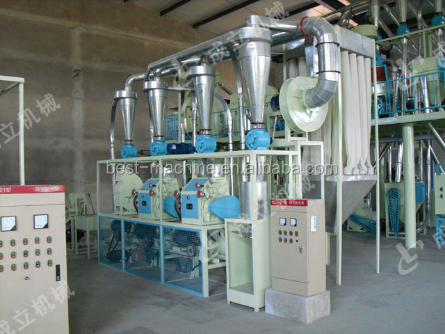 Maize flour mill grinder peeling and crushing good price corn flour milling machine