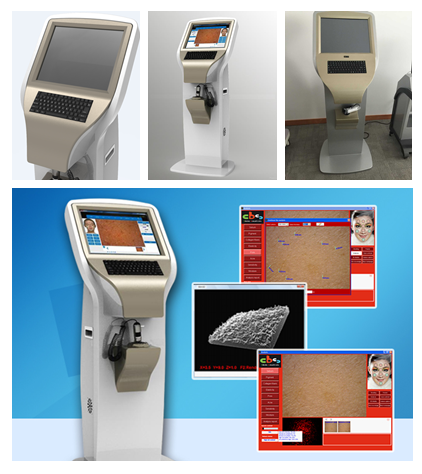 2015 newest beauty equipment face skin test machine body skin analyzer