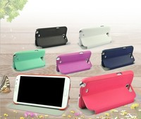 Fashionable Clear Color Flip PU Leather Case for Samsung Note 2