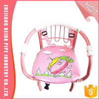 Multipurpose Cartoon metal sound baby chair with belt in high quanlity
