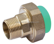 "1/2"" plastic pipe fitting ppr hexagonal adaptor MT for cold/hot water"