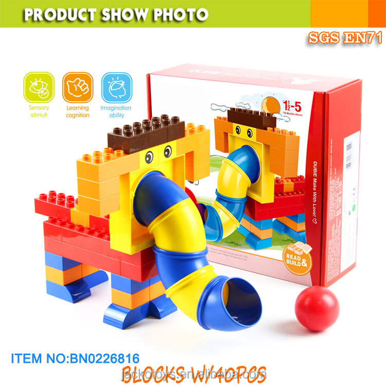 Eco friendly plastic ABS pipe game large building block for baby