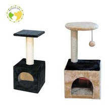 China Manufacture Professional Whisker City Weave Long Fur Cat Tree