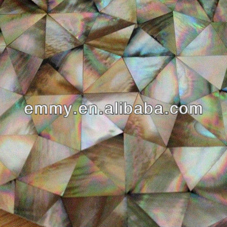 Brown lip mother of pearl seashell mosaic wall tile irregular triangle
