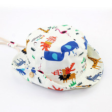 Personalized print pattern safari canvas bucket hats