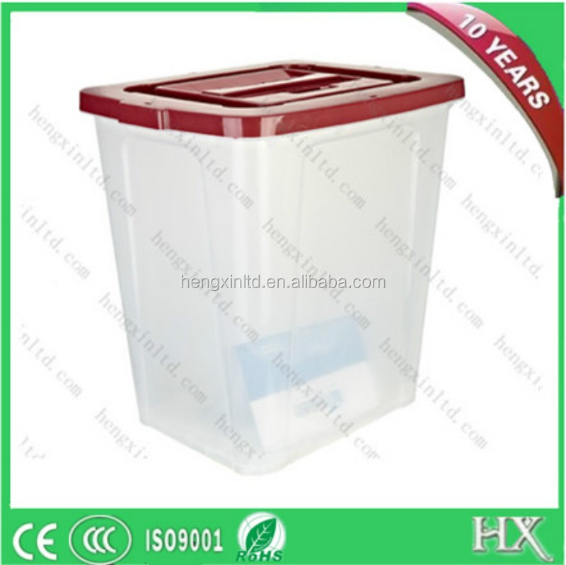 Hard Plastic Ballot Box ,Acrylic Donation Box With Lock