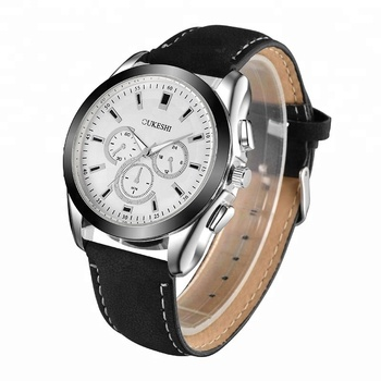 OUKESHI England Style Men Waterproof Wristwatches Casual Quartz Male Watch Business Leather Watches Wholesale
