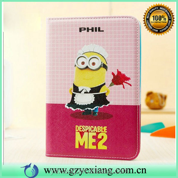 Wholesale Despicable Me 2 Cover For iPad Mini Minion Case Card Holder