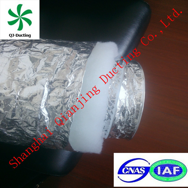 R1.5 aluminum insulated flexible ductwork for industrial/home HVAC systems