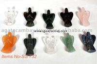 Angel Carving Statue Semi-Precious Stone Wholesale
