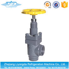 Welded Type Angle Stop Cock Valve For Cold Room Pipe