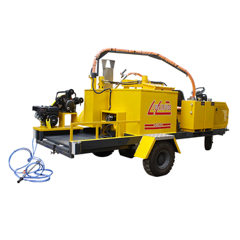 trailing type driveway repair products rubber fitting machine road safety projects