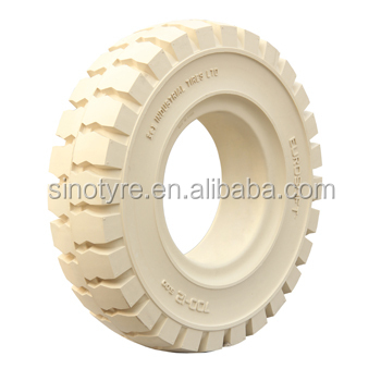2015 china new cheap solid white non marking forklift tires
