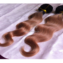 Color#1b/30 sunny grace hair products,10-30 inch virgin remy two tone Brazilian hair weft,virgin Brazilian Human hair weft
