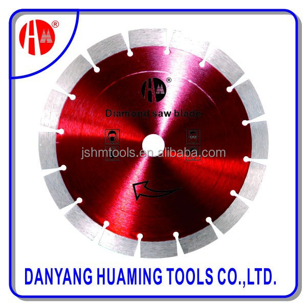 Ti-coated finishing concrete and stone cutting diamond blade material cutting diamond lapidary saw blade