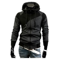 New design cotton Hooded men and women's casual sports coat With stitching mixed colors design