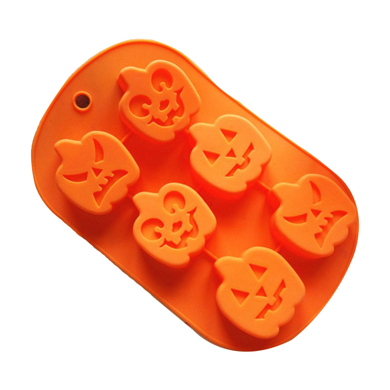 6 Cavity Pumpkin Elves Halloween Silicone Cake Mould Silicone Cookies Ice Mold