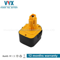 High quality 12V 2500mAh Ni-mh Power Tool Battery Rechargeable for Dewalt Replacement DW907K2