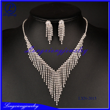 Trendy Indian Jewelry Set Wedding Accessories Silver Plated Earrings Big Custome Jewelry Sets