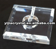12*12*2.5cm Clear K9 Crystal Glass Desk Lamp Base,Cheap Crystal Basing Parts for Table Chandelier