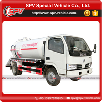 High Efficiency , Quick Suction and Discharge Dongfeng 6000 Litres Sewage Sucking Truck