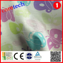Anti-bacterial washed soft 100% cotton printed muslin fabric factory