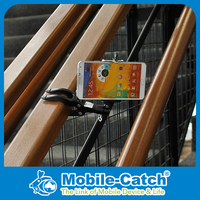 Mobile Phone Mount Stand, Portable Quick Release Patented Design, INPEX Award,Multi Purpose for airplane, desk, bike, HTC