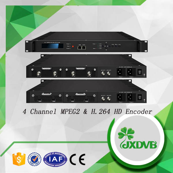 Redundancy Power Supply MPEG 2/MPEG 4 4-in-1 Video Encoders for Cable TV and IPTV