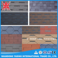 Best Selling Colorful Fiberglass 3-tab Asphalt Shingles/ Bitumen Roofing Tile