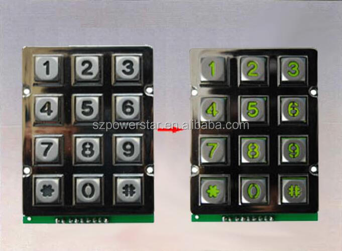 Backlight keypad for High Security door